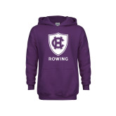 Youth Purple Fleece Hoodie-Rowing