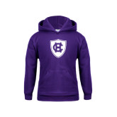 Youth Purple Fleece Hoodie-HC Shield