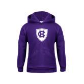 Youth Purple Fleece Hood-HC Shield