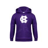 Youth Purple Fleece Hood-Interlocking HC