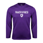 Performance Purple Longsleeve Shirt-Track and Field Design