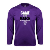 Performance Purple Longsleeve Shirt-Game Set Match - Tennis Design