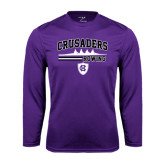 Performance Purple Longsleeve Shirt-Rowing Design