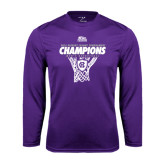 Syntrel Performance Purple Longsleeve Shirt-2016 Patriot League Mens Champions Basketball
