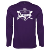Syntrel Performance Purple Longsleeve Shirt-2017 Patriot League Mens Champions Baseball
