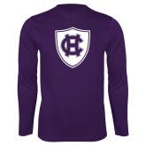 Performance Purple Longsleeve Shirt-HC Shield
