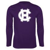 Performance Purple Longsleeve Shirt-Interlocking HC