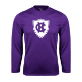 Syntrel Performance Purple Longsleeve Shirt-HC Shield
