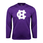 Performance Purple Longsleeve Shirt-Interlocking HC