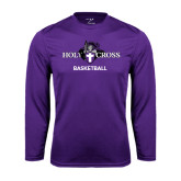 Syntrel Performance Purple Longsleeve Shirt-Basketball