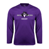 Syntrel Performance Purple Longsleeve Shirt-Hockey