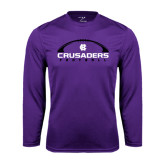 Performance Purple Longsleeve Shirt-Crusaders Football Horizontal