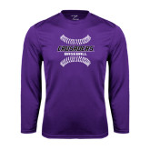 Performance Purple Longsleeve Shirt-Baseball Stitches