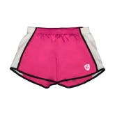Ladies Fuchsia/White Team Short-HC Shield