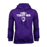 Purple Fleece Hoodie-Rise Together