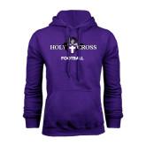 Purple Fleece Hood-Football