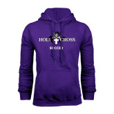 Purple Fleece Hood-Soccer