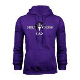Purple Fleece Hoodie-Dad