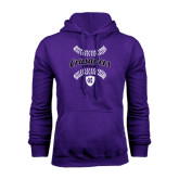 Purple Fleece Hoodie-Softball Stitches