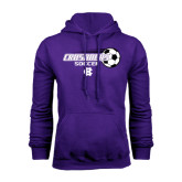 Purple Fleece Hood-Soccer w/ Flying Ball