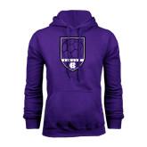 Purple Fleece Hoodie-Soccer Shield Design