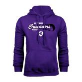 Purple Fleece Hood-Hockey Puck Design
