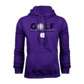 Purple Fleece Hoodie-Golf Ball Design