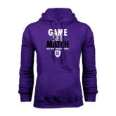 Purple Fleece Hoodie-Game Set Match - Tennis Design