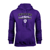 Purple Fleece Hoodie-Rowing Design