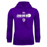 Purple Fleece Hoodie-2017 Patriot League Mens Champions Baseball
