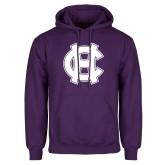 Purple Fleece Hoodie-Interlocking HC