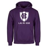 Purple Fleece Hoodie-Lacrosse