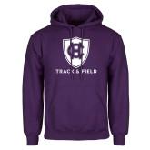 Purple Fleece Hoodie-Track and Field