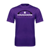 Performance Purple Tee-Crusaders Football Horizontal