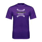 Performance Purple Tee-Baseball Stitches