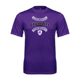 Performance Purple Tee-Softball Stitches