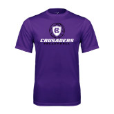 Performance Purple Tee-Vollyball Ball Design