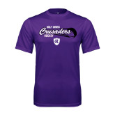 Performance Purple Tee-Hockey Puck Design