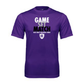 Performance Purple Tee-Game Set Match - Tennis Design