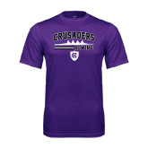 Performance Purple Tee-Rowing Design