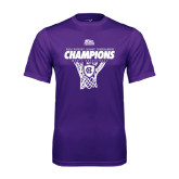 Syntrel Performance Purple Tee-2016 Patriot League Mens Champions Basketball