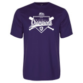 Syntrel Performance Purple Tee-2017 Patriot League Mens Champions Baseball