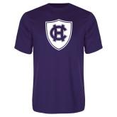 Performance Purple Tee-HC Shield