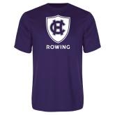 Performance Purple Tee-Rowing