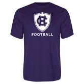 Performance Purple Tee-Football