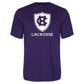 Performance Purple Tee-Lacrosse