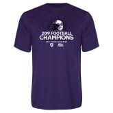 Performance Purple Tee-2019 Football Champs