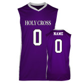 Replica Purple Adult Basketball Jersey-Baseball Jeresy