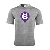Performance Grey Heather Contender Tee-HC Shield