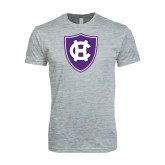 Next Level SoftStyle Heather Grey T Shirt-HC Shield